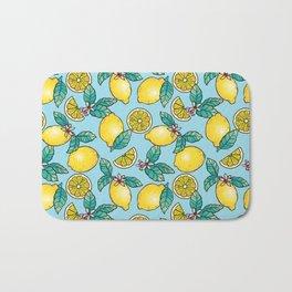Tropical Vibe Lemon Pattern Bath Mat