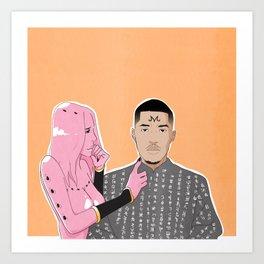 Pink Matter Art Print