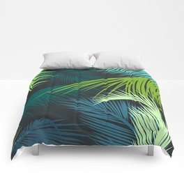 Palm Leaf, Tropical Leaves Comforters