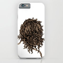 Messy dry curly hair 5 iPhone Case