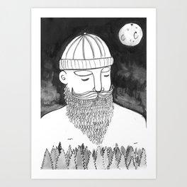 The Magically Wonderful Snow Beard Art Print