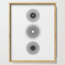 Spiral Growth Patterns of Sunflowers Serving Tray