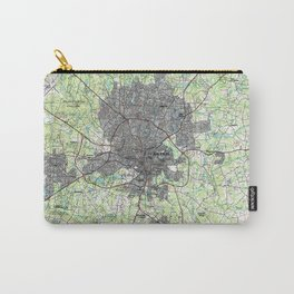 Raleigh North Carolina Map (1990) Carry-All Pouch