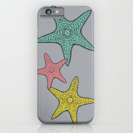Starfish gray background iPhone Case