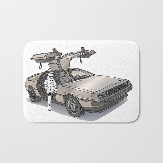 Stormtroooper in a DeLorean - star wars Bath Mat