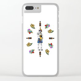 Keith Richars-  rock and roll life Clear iPhone Case