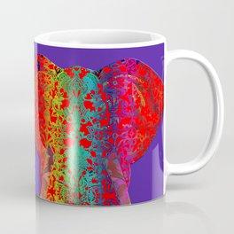 Rainbow Ganesha (Purple Background) Coffee Mug
