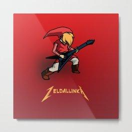 Zelda llinka - Red Link Metal Print