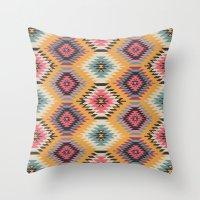navajo Throw Pillows featuring Navajo Dreams by Bohemian Gypsy Jane