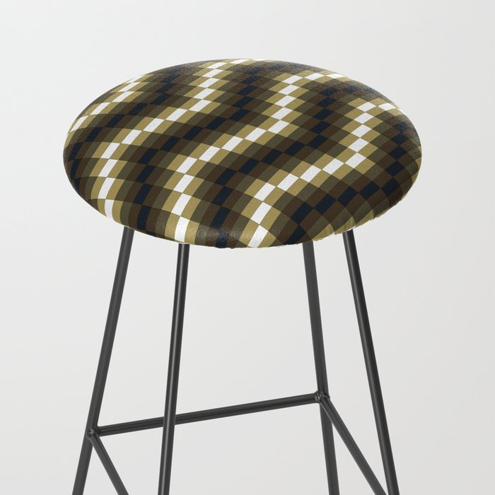 Block Wave Illustration Artwork Bar Stool