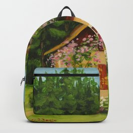 Tiny Cottage House Backpack