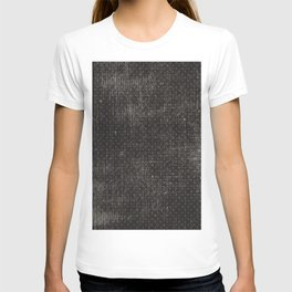 Vintage geometrical black brown polka dots pattern T-shirt