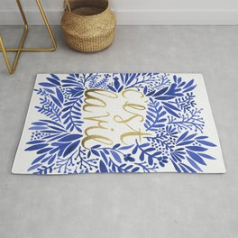 That's Life – Gold & Blue Rug