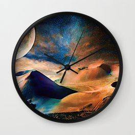 Volcanic Planet Wall Clock