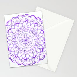 Purple Mandala Stationery Cards