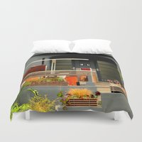 shabby chic Duvet Covers featuring Garden WIP - Shabby Chic by oneofacard