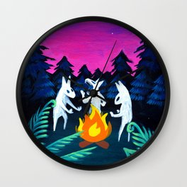 Campfire Howlers Wall Clock