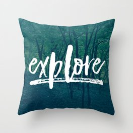 Explore: The Woods Throw Pillow