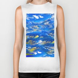CLOUDS ABSTRACT Biker Tank