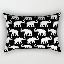 Elephants on Parade Black Rectangular Pillow