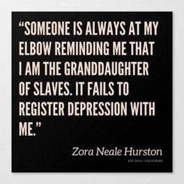 39|Zora Neale Hurston Quotes 200823 Black Motivational Writer Book Inspirational Female Literature Canvas Print