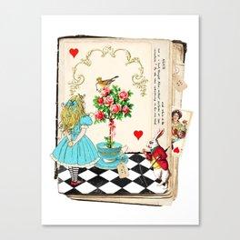Alice's Book Alice in Wonderland Canvas Print
