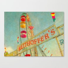 Child at Heart carnival ferris wheel circus Canvas Print
