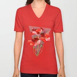 Poppies. Unisex V-Neck