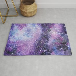 Space. Watercolor Rug