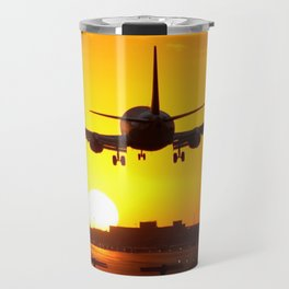 Beautiful 737 Sunset Travel Mug