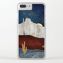 Moonlit Desert Clear iPhone Case