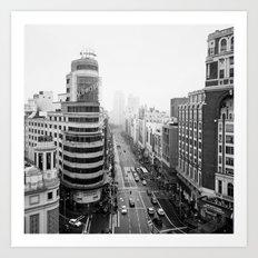 Gran Via in Madrid Art Print