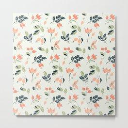 Viburnum Botanical pattern Metal Print