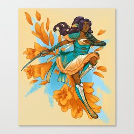 Magical Girl Gladiolus Canvas Print