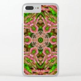 Vibrant surreal wattle kaleidoscope Clear iPhone Case