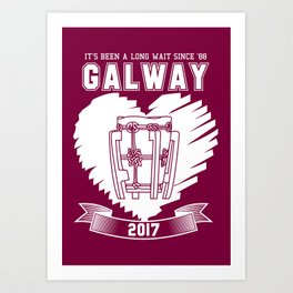 All Ireland Hurling Champions: Galway (Maroon/White) Art Print