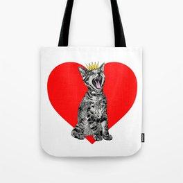 Kitty Heart Tote Bag