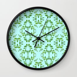zakiaz holli aqua & green Wall Clock
