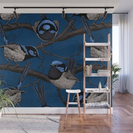 Night fairy wrens Wall Mural