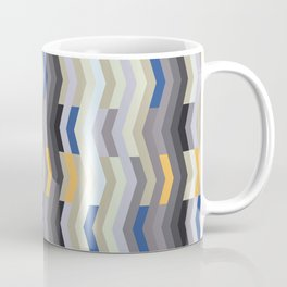 Modern Chevron - Peek O' Blue Coffee Mug