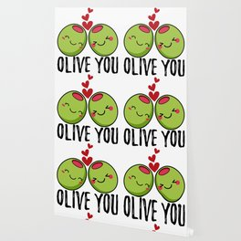 Olive You | I Love You | Valentine's Day Heart Wallpaper
