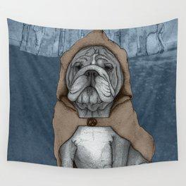 English Bulldog in Stonehenge Wall Tapestry