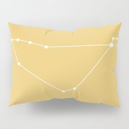 Capricorn Zodiac Constellation - Golden Yellow Pillow Sham