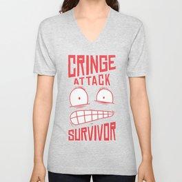 Cringe Attack Unisex V-Neck