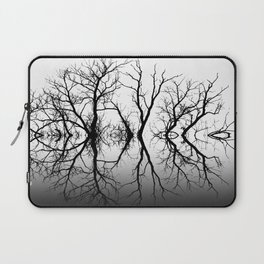 Silhouetted Beauty Black Laptop Sleeve