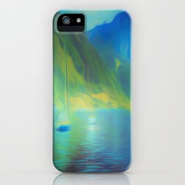 The Mystical Mountain Lake iPhone Case