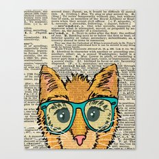 Orange Kitty Cat Canvas Print