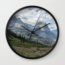 Catching a View from Going to the Sun Road Wall Clock