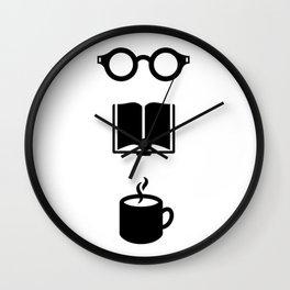 Books + coffee =  Wall Clock