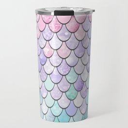Mermaid Pastel Pink Purple Aqua Teal Travel Mug